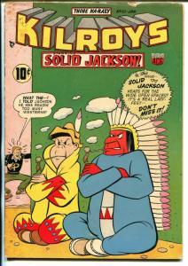 Kilroys #51 1954-ACG-Solid Jackson-Indian cover-wacky humor-VG