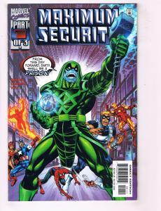 4 Maximum Security Marvel Comic Books # 1 2 3 + Dangerous Planet Avengers MS5