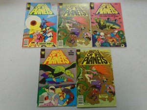 Battle of the Planets lot 5 different issues avg 5.0 VG FN (1979-80 Whitman)