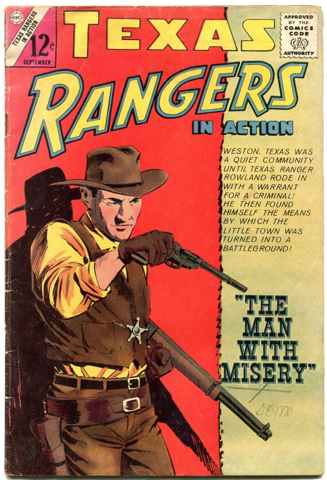 Texas Rangers #46 1964- Charlton Western comic- Gatling Gun