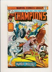 Marvel 1976 THE CHAMPIONS#4 Hercules/Black Widow/Angel/Ghost Rider F/VF (PF882)