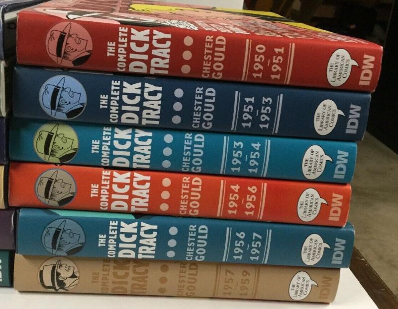 Dick Tracy 1 2 3 4 5 6 7 8 9 10 11 12 13 14 15 16 17 19 Hc Idw 1931-1959 Nm P26