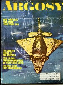 Argosy 11/1969-ancient air craft-NFL gamblers-pulp thrills-VG