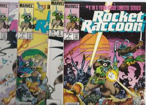 Rocket Racoon Set #1to4 (May-85) NM+ Super-High-Grade Rocket Racoon