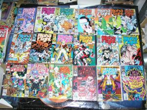 ALPHA FLIGHT (Marvel Comics), 32-126, 1986-1993, 19 diff