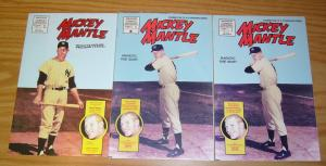 Mickey Mantle #1-2 VF/NM complete series + bagged variant - baseball bio set