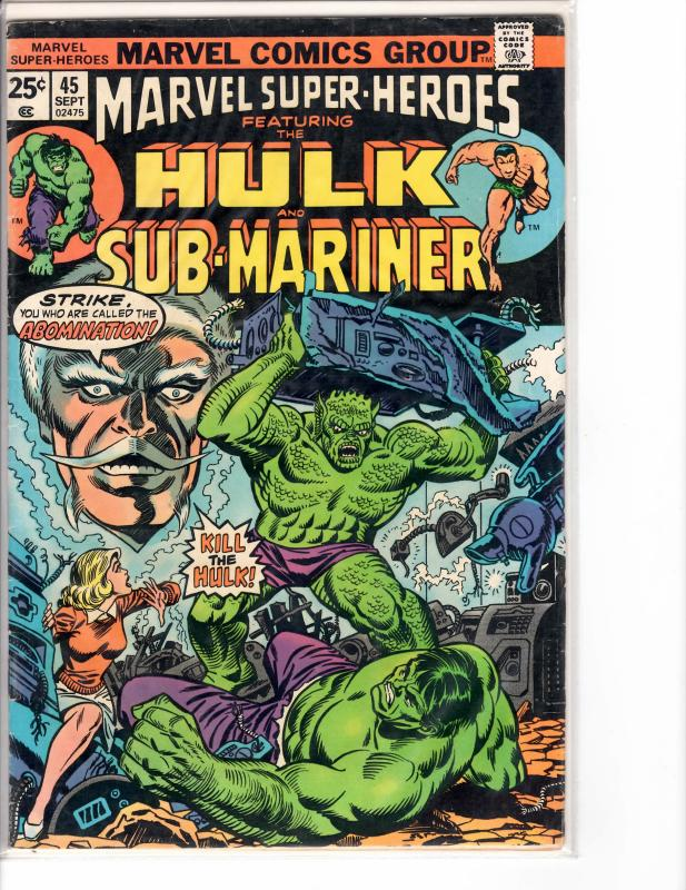 Marvel Super Heroes (1967) 45 Fine (6.0)