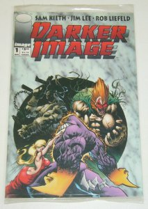 Darker Image #1 VF/NM error version bagged with two cards - deathblow/maxx