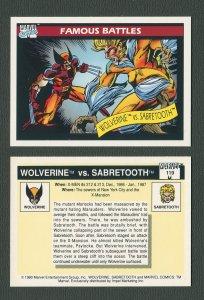 1990 Marvel Comics Card  #119 (Wolverine/Sabretooth) / MINT