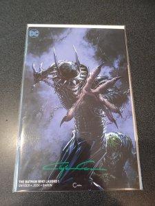 The Batman who laughs #1 Scorpion Comics Variant signed by Clayton Crain W/COA