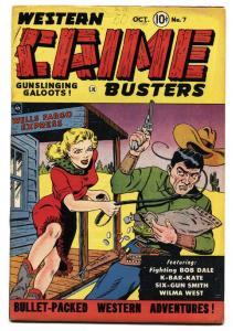 Western Crime Busters #7 1951-Good Girl Art-Wilma West- FN+