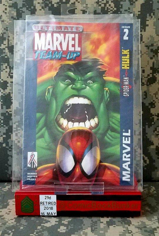 Ultimate Marvel Team Up #2 NM Incredible Hulk Spider Man Mad Engine VARIANT HTF