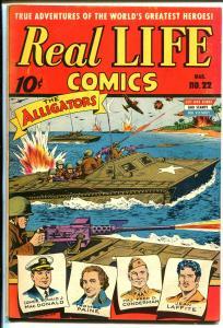 Real Life #22 1945-Standard-Alex Schomburg-WWII-Jean Laffite-aviation-FN+