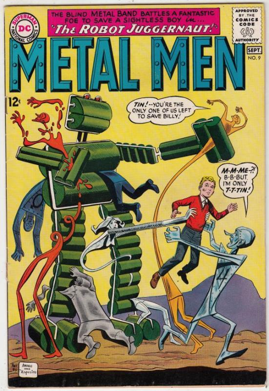 Metal Men #9 (Sep-64) FN/VF Mid-High-Grade Metal Men (Led, Tina, Tin, Gold, M...