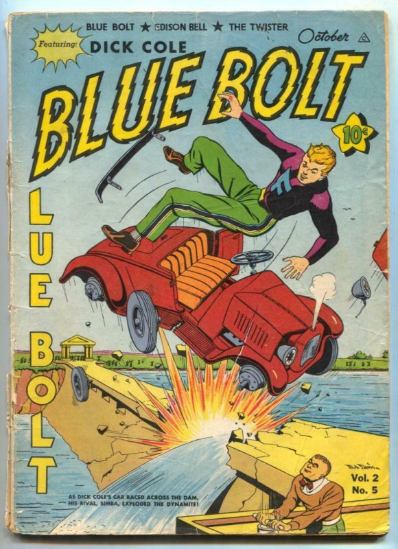 Blue Bolt Vol 2 #5- Sub-zero- Stonewall Jackson- Freezum G+