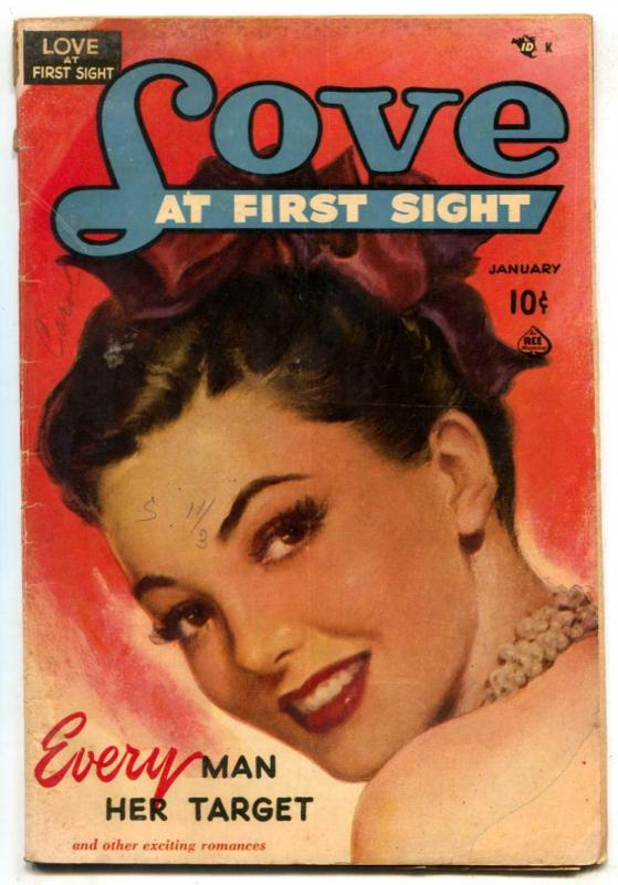 Love at First Sight #7 1951- Every Man Her Target G/VG