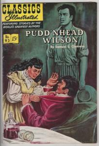 Classics Illustrated #93 (Mar-52) VF+ High-Grade Pudd'n Head Wislon