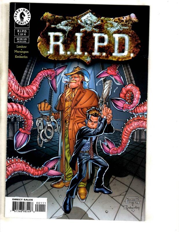 RIPD # 1 Of 4 VF/NM Dark Horse Comic Book Lenkov Marangon Emberlin CR31