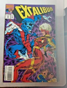 Excalibur #73 Comic Book W/ Night Crawler Marvel 1993 KEN LASHLEY ARTIST Signed