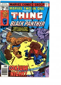Marvel Two-In-One 40 F/VF   Black Panther!