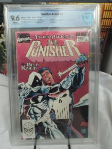 The Punisher Annual #2 (1988) - CBCS 9.6 - White Pages - Moon Knight