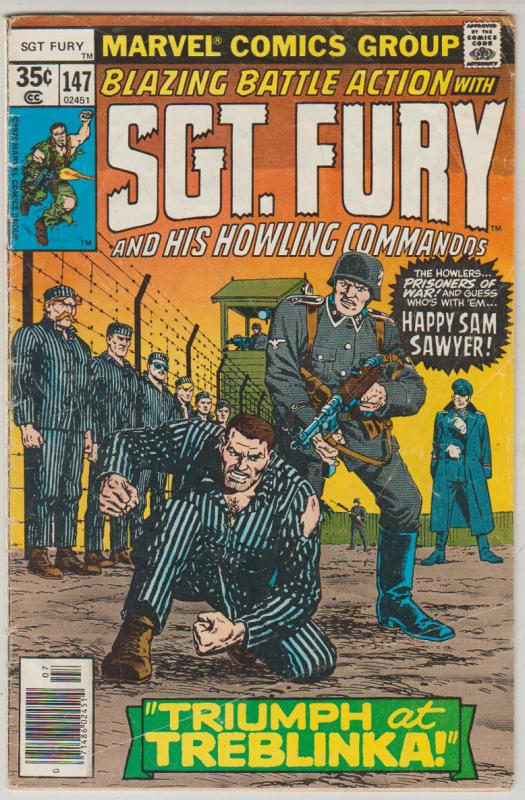 BLAZING BATTLE ACTION WITH SGT. FURY HOWLING COMMANDOS #147 DC WAR COMIC 1978