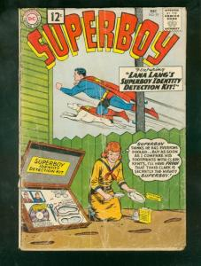 SUPERBOY #93 1961-LEGION STORY-1st 12 CENT ISSUE-SILVER FR