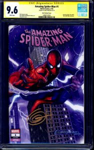 Amazing Spider-Man #1 HORN VARIANT CGC SS 9.6 signed by Greg Horn NM+