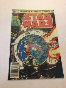 Star Wars 61 Vf- Very Fine- 7.5 Newsstand Edition Marvel Comics