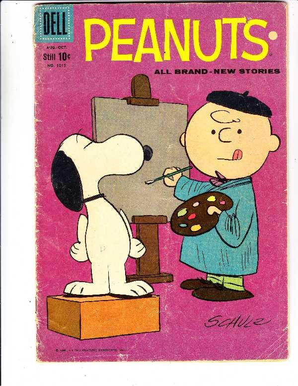 Four Color #1015 (Oct-59) VG- Affordable-Grade Charlie Brown, Snoopy, Linus, ...