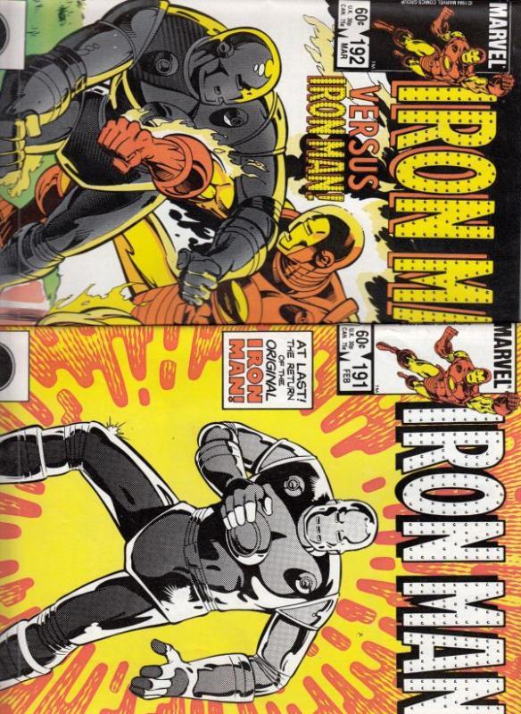Iron Man Set #191to192 (Feb-86) NM- High-Grade Iron Man