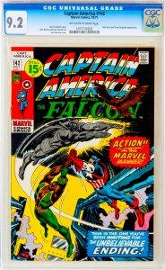 Captain America #142 CGC Graded 9.2 Nick Fury and Grey Gargoyle appearance.