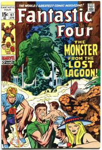 FANTASTIC FOUR #97, FN+, Lagoon Monster, Jack Kirby, 1961, more FF in store, QXT