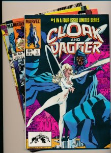 Marvel Comics-LOT OF 4-CLOAK AND DAGGER #1-3,11 1983/'86  F/VF (PF937)