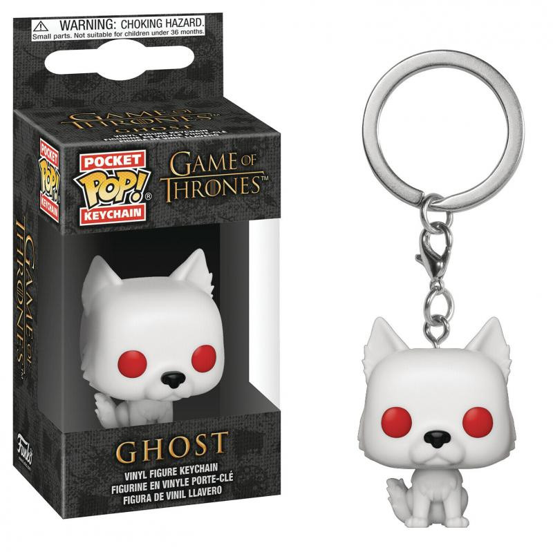 Pocket POP Game Of Thrones S9 Ghost Keychain (Funko) New!