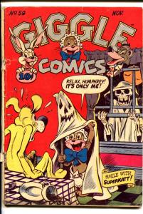 GIGGLE #59 1948-ACG-SPENCER SPOOK-HORROR COVER-SKELETON-good