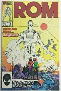 ROM#75 VF/NM 1986 FINAL ISSUE MARVEL COMICS