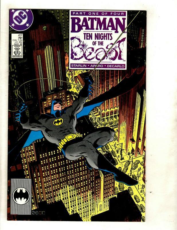 Lot Of 4 Batman DC Comic Books # 417 418 419 420 KG Beast Gotham Robin Joker SM8
