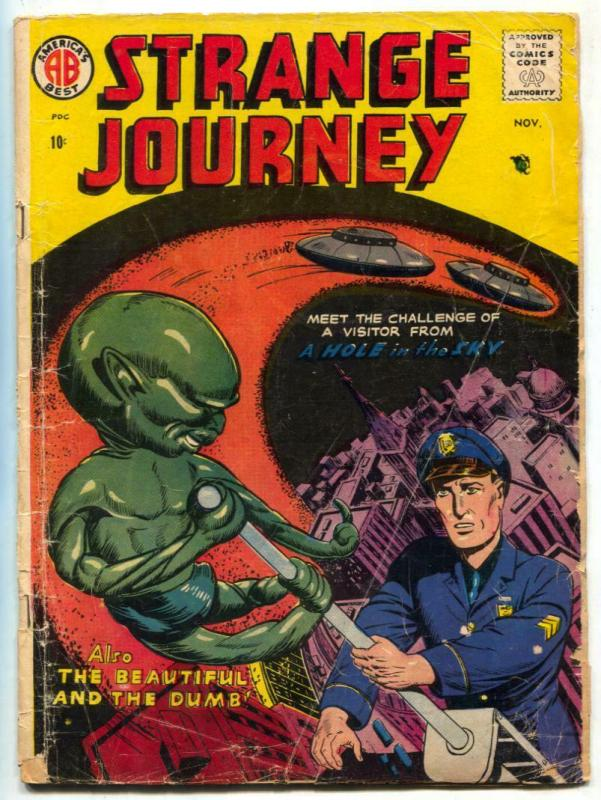 Strange Journey #2 1957- Flying Saucer Hole in the Sky G-