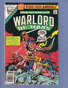 John Carter Warlord of Mars Annual #1 VG Marvel 1977