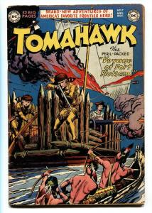 TOMAHAWK #7 1951 DC WESTERN -INDIAN ATTACK- GOLDEN AGE VG+