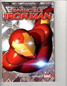 REBOOT Invincible Iron Man Vol 1 Marvel Comics TPB Graphic Novel Comic Book J311