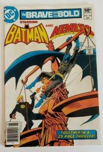 Brave and the Bold #170 (1981) VF 8.0 Batman & Nemesis (Newsstand)