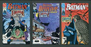 Batman #448  #449 Detective #615 (Penguin SET) 9.4 NM  June 1990