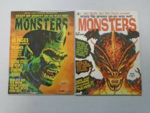 Crazy Hip Groovy Go-Go Way Out Monsters #29+32 6.0 FN (2004+04 TwoMorrows)