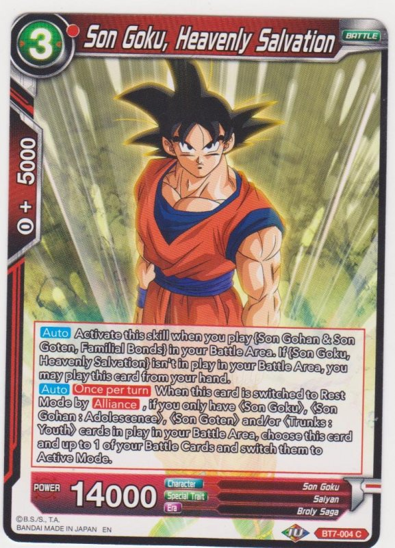 Dragon Ball Super CCG - Assault on the Saiyans - Son Goku Heavenly Salvation