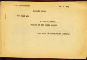 CAPTAIN POWER #2-1960'S-VERY RARE EARLY FANZINE-COMIC VG/FN