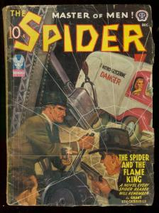 THE SPIDER DEC 1942 FLAME KING STOCKBRIDGE DESOTO COVER VG-