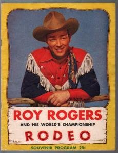 Roy Rogers & His World Championship Rodeo Program 1948-Trigger-Dale-VG