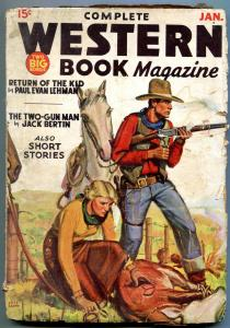 Complete Western Book Pulp January 1936- Two-Gun Man G/VG